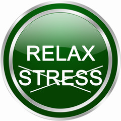 relax stress button