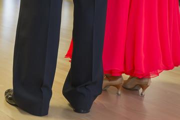 Elegant gekleidetes Paar auf einem Tanzwettbewerb