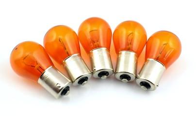 orange bulb Car