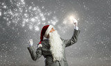 Santa with mobile phone