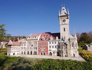 Prague city in miniature