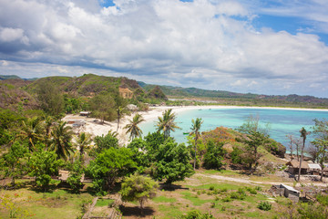 Long Tanjung Aan white sand beach, Lombok, Indonesia