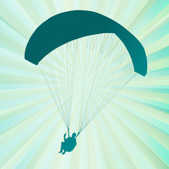 Paragliding active sport abstract background vector
