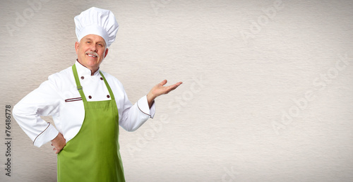 Leinwanddruck Bild Chef