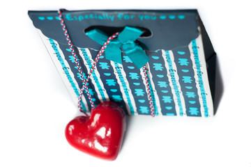 Valentine's gift box with a heart