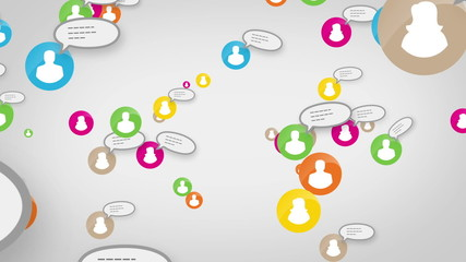 Social network loop media concept skype