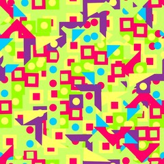 pattern of brightly geometric shapes