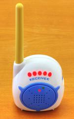 Babyphone on wooden background