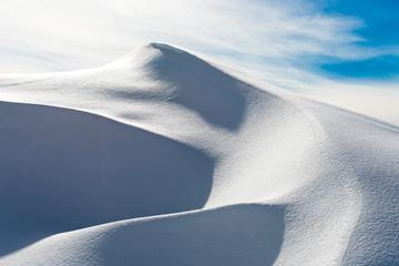 Dune of snow