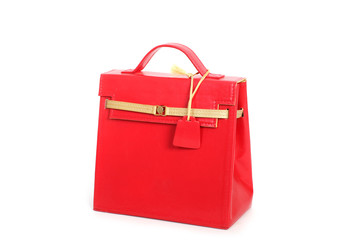 Red  female leather bag