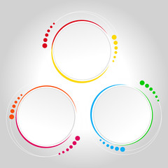 Abstract circle template - infographics