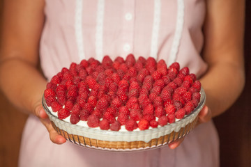 Raspberry Cake for holidays