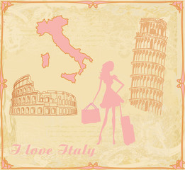 travel girl in Italy