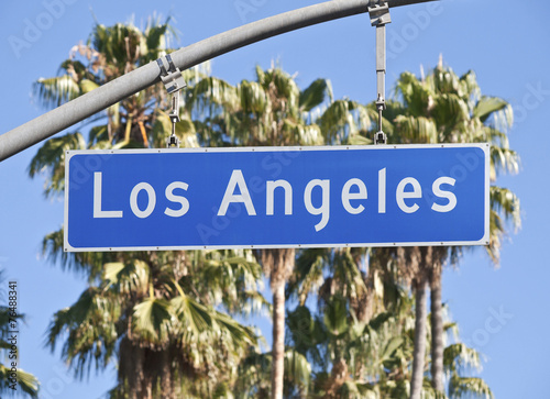 Fotobehang Los Angeles Los Angeles Street Sign