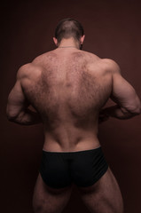 Male back with hair