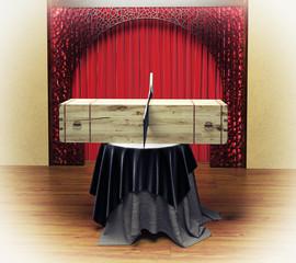 Magician sawing box