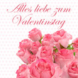 canvas print picture - happy valentines day greeting card 2