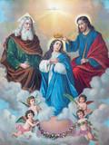 Typical catholic image of Coronation of Virgin Mary