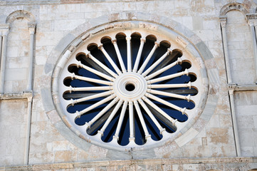 Rose window, architecture detail