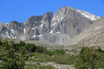 Longs Peak in Rocky Mountains, Colorado