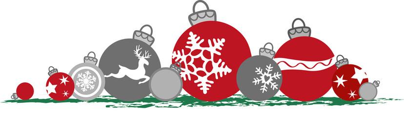 Liegende Weihnachtskugeln, Vektor