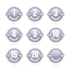 silver warranty labels collection