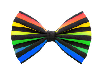 Clownfliege in Regenbogenfarben