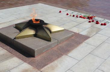 Вечный огонь на празднике 9 мая