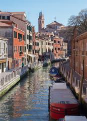 Venice - Fondamneta del Monastero street and canal.