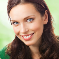 Portrait of happy smiling woman , outdoor