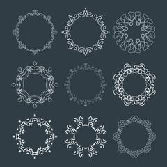Set of elegant logo design, vector illustration