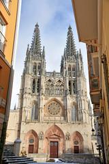 catedral de burgos en un dia de invierno