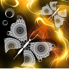Fantasy image Lace butterflies in honey paradise