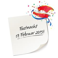 Fastnacht 2015 - Memo