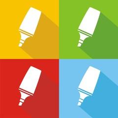 Iconos marcadores colores sombra