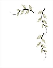 marco de hojas