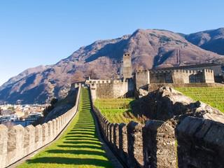 Bellinzona, walled of Castelgrande