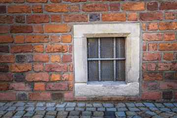 Window with wrought iron bars