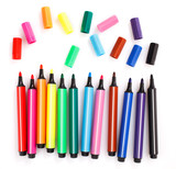 Fototapety colored markers