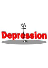 Strichmännchen hat Depression