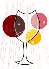 Logo verre de vin