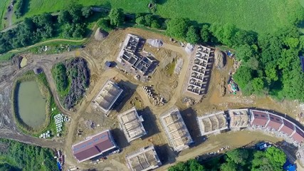 Aeriel of a building site