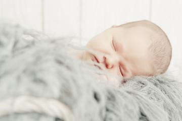 Sleeping Newborn Baby Portrait