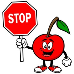 Cherry with Stop Sign