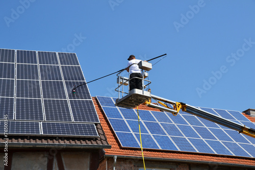 Leinwanddruck Bild Solar Reinigung