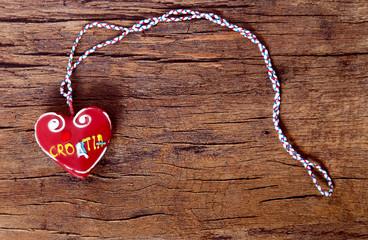 Licitar heart, traditional souvenir in Croatia