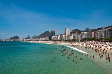 View of Copacabana Beach in Rio de Janeiro