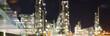 Leinwanddruck Bild - Raffinerie - Chemiewerk // Refinery - chemical plant