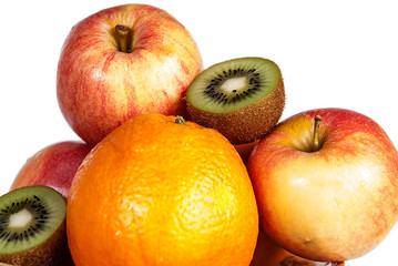 fruit orange kiwi apple healthy