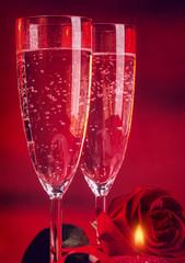 Romantic Valentine day dinner